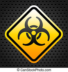 Bio hazard warning sign