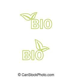 bio, icon., ベクトル, エコロジー
