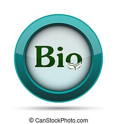 Bio icon. Internet button on white background.