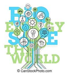 bio, infographic., エコロジー, エネルギー