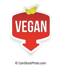 Bio label red sticker