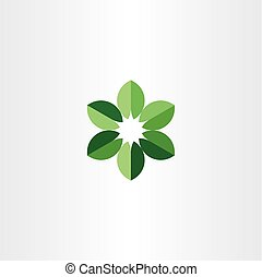bio leaves circle logo green icon symbol