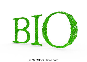 Bio. Letters with grass on it.