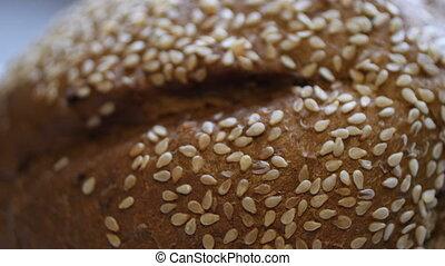 bio, maison, pain cuit four, blé, ingrédients, entier
