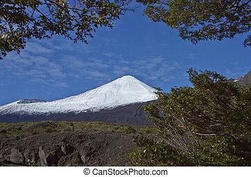 bio, metres), chile., región, nieve, (2, levantamiento,...