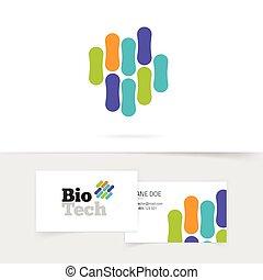 bio, mikroorganismus, farbe, abstrakt, genetisch, logo, ...