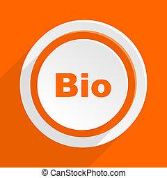 bio orange flat design modern icon for web and mobile app