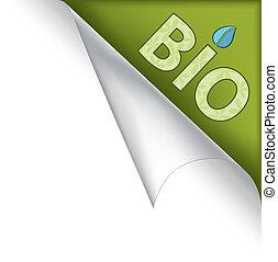 bio, pagina, hoek