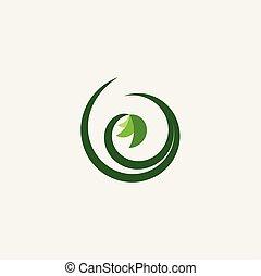 bio, pflanze, organische , vektor, grün, logo, natürlich, ikone