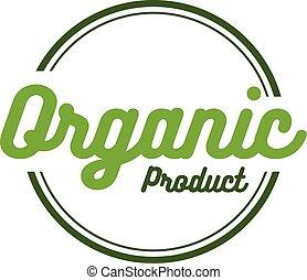 bio, prodotto, grunge, vendemmia, etichetta, vettore, retro, organico, rotondo