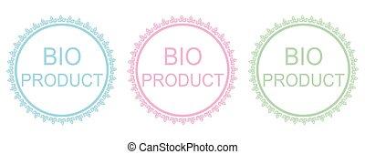 Bio product elements set.