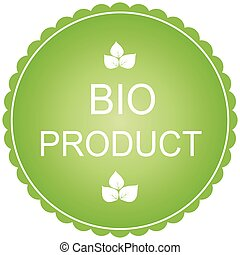 Bio product - vector label and badge