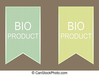 bio, produkt, elementy, set.