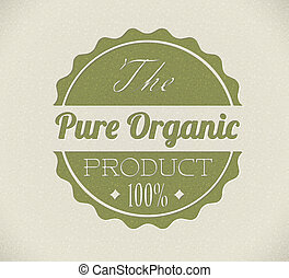 bio, produto, grunge, selo, vindima, /, antigas, vetorial, retro, orgânica, redondo
