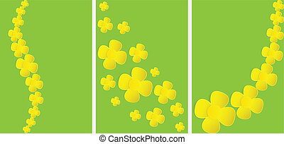 bio raps banner - set of banners with paper rape flower ...