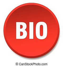 bio red round flat isolated push button
