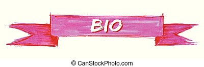 bio ribbon - bio hand painted ribbon sign