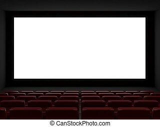 bio, sal, vit, screen.3d, framförande