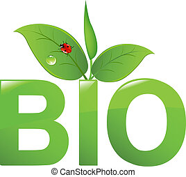 Bio Sign, Isolated On White Background, Vector Illustration...