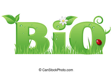 Bio sign - Bio sign ecological design isolated