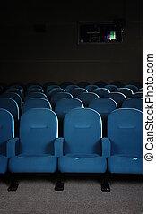 bio, sittplatser, in, a, film teater