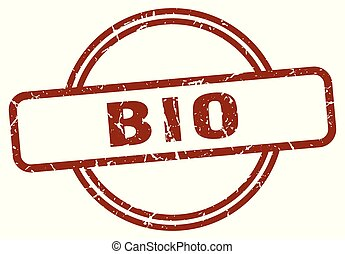 bio stamp isolated on white