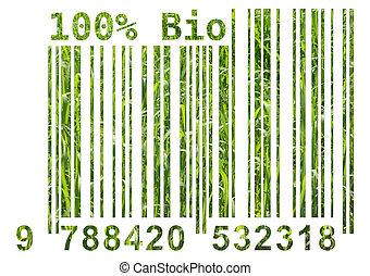 bio, streepjescode