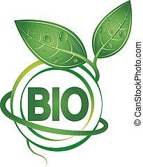 bio, symbool, ontwerp