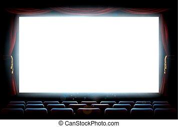 bio, teater, avskärma