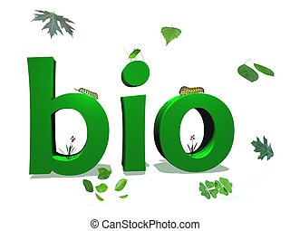 Bio text - Green bio letters color surrounded by green...