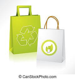 bio, y, eco, paperbags