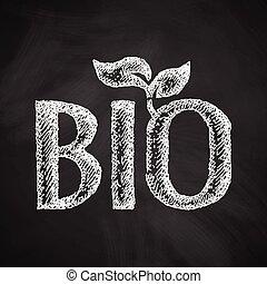 bio, zeichen, ikone