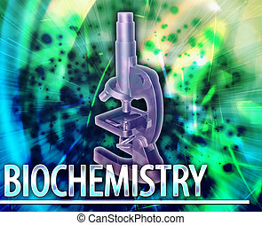 Biochemistry Abstract concept digital illustration