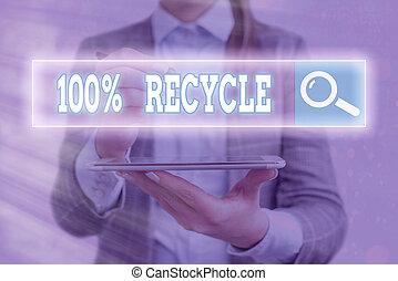 biodégradable, recycle., compostable, écriture, écriture, ...