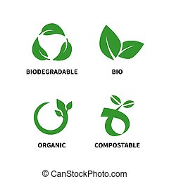 Biodegradable and compostable concept reduce reuse recycle ...