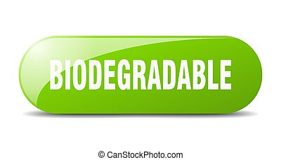 biodegradable button. sticker. banner. rounded glass sign - ...
