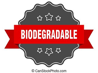 biodegradable label. biodegradable isolated seal. sticker. ...