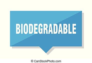 biodegradable price tag - biodegradable blue square price...