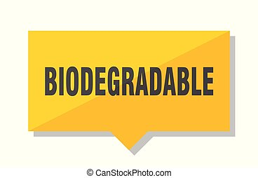 biodegradable price tag - biodegradable yellow square price...