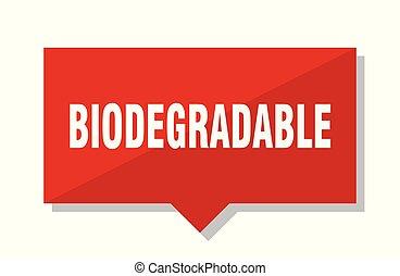 biodegradable red tag - biodegradable red square price tag