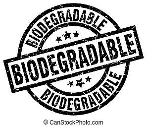 biodegradable round grunge black stamp