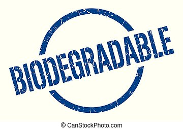biodegradable stamp - biodegradable blue round stamp