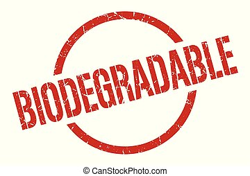 biodegradable stamp - biodegradable red round stamp