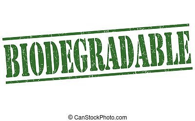 Biodegradable stamp - Biodegradable grunge rubber stamp on...