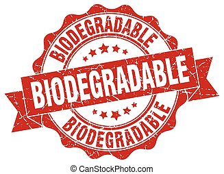 biodegradable stamp. sign. seal
