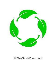 Biodegradable vector icon. Bio recyclable degradable label ...