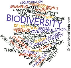 Biodiversity - Abstract word cloud for Biodiversity with...