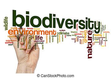 biodiversity, palabra, nube