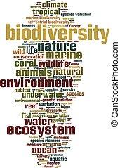 Biodiversity word cloud concept. Vector illustration