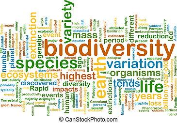 biodiversity wordcloud concept illustration - Background...